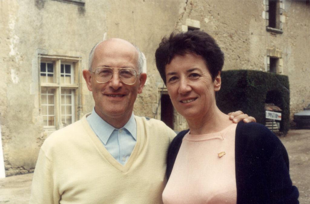Michèle Fromenteau et son époux Maurice Bourg à Saint Chartier en 1991