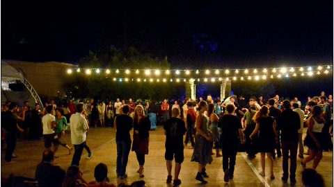 Ambiance Bal du soir cour du Château le son continu 2016©Stéphanie Beerens
