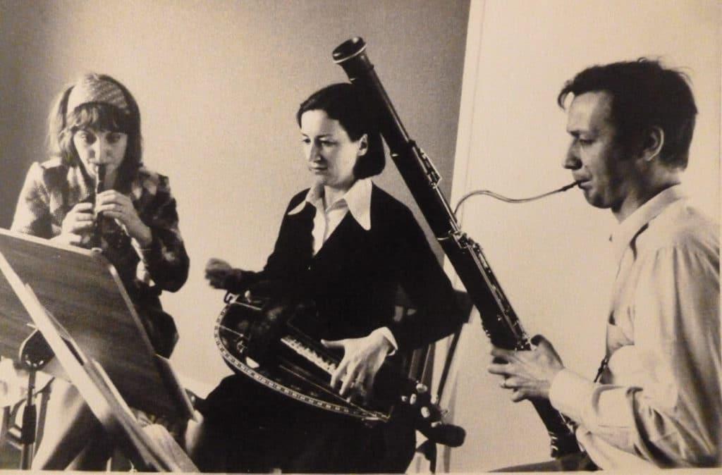 Premières répétitions, avec flûte à bec et basson.